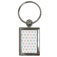 Seamless Pattern Pastels Background Pink Key Chains (rectangle)