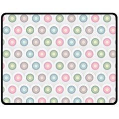 Seamless Pattern Pastels Background Pink Double Sided Fleece Blanket (medium)