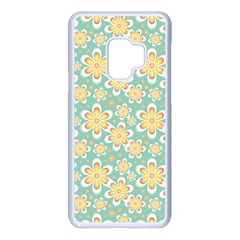 Seamless Pattern Floral Pastels Samsung Galaxy S9 Seamless Case(white) by HermanTelo