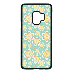 Seamless Pattern Floral Pastels Samsung Galaxy S9 Seamless Case(black)