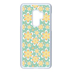 Seamless Pattern Floral Pastels Samsung Galaxy S9 Plus Seamless Case(white)