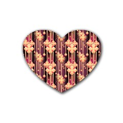Seamless Pattern Plaid Heart Coaster (4 Pack)