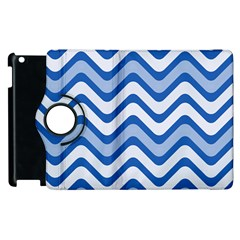 Waves Wavy Lines Apple Ipad 2 Flip 360 Case by HermanTelo