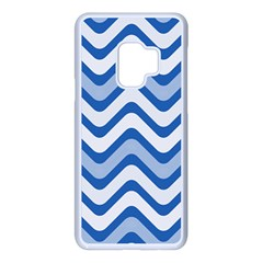 Waves Wavy Lines Samsung Galaxy S9 Seamless Case(white)