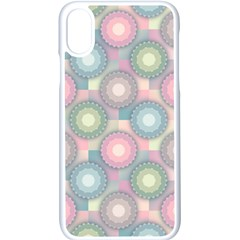 Seamless Pattern Pastels Background Iphone X Seamless Case (white)