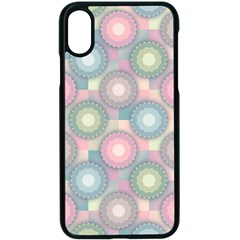 Seamless Pattern Pastels Background Iphone X Seamless Case (black)