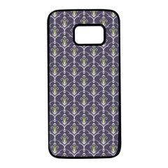Seamless Pattern Background Fleu Samsung Galaxy S7 Black Seamless Case