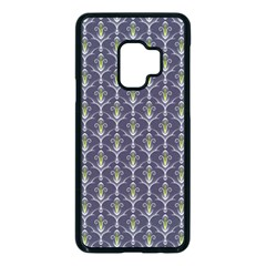 Seamless Pattern Background Fleu Samsung Galaxy S9 Seamless Case(black)