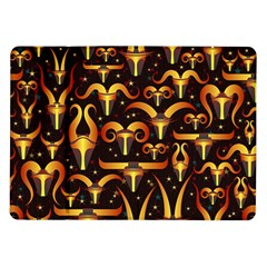 Stylised Horns Black Pattern Samsung Galaxy Tab 10 1  P7500 Flip Case