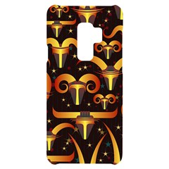 Stylised Horns Black Pattern Samsung S9 Plus Black Uv Print Case by HermanTelo