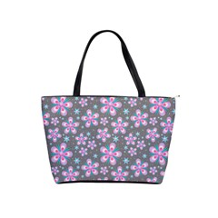 Seamless Pattern Flowers Pink Classic Shoulder Handbag by HermanTelo