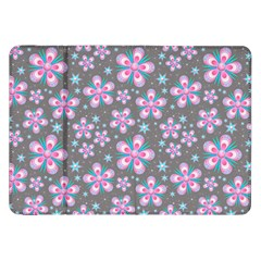 Seamless Pattern Flowers Pink Samsung Galaxy Tab 8 9  P7300 Flip Case by HermanTelo