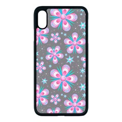 Seamless Pattern Flowers Pink Iphone Xs Max Seamless Case (black)