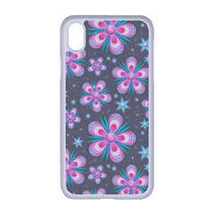 Seamless Pattern Flowers Pink Iphone Xr Seamless Case (white)