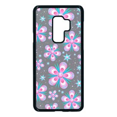 Seamless Pattern Flowers Pink Samsung Galaxy S9 Plus Seamless Case(black) by HermanTelo