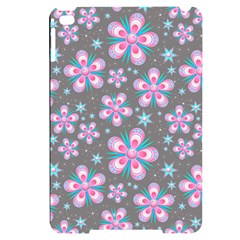 Seamless Pattern Flowers Pink Apple Ipad Mini 4 Black Uv Print Case by HermanTelo