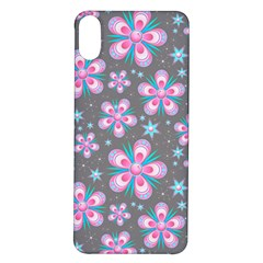 Seamless Pattern Flowers Pink Iphone X/xs Soft Bumper Uv Case
