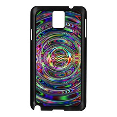 Wave Line Colorful Brush Particles Samsung Galaxy Note 3 N9005 Case (black)