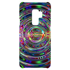 Wave Line Colorful Brush Particles Samsung S9 Plus Black Uv Print Case by HermanTelo