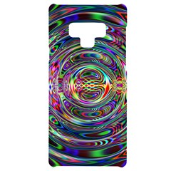 Wave Line Colorful Brush Particles Samsung Note 9 Black Uv Print Case  by HermanTelo