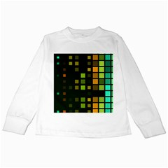 Abstract Plaid Kids Long Sleeve T Shirts by HermanTelo