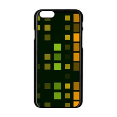 Abstract Plaid Iphone 6/6s Black Enamel Case by HermanTelo