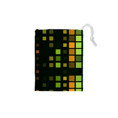 Abstract Plaid Drawstring Pouch (xs)