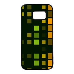 Abstract Plaid Samsung Galaxy S7 Black Seamless Case
