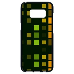 Abstract Plaid Samsung Galaxy S8 Black Seamless Case