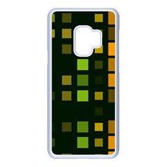 Abstract Plaid Samsung Galaxy S9 Seamless Case(white)
