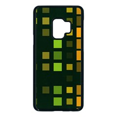 Abstract Plaid Samsung Galaxy S9 Seamless Case(black)