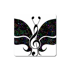 Butterfly Music Animal Audio Bass Square Magnet
