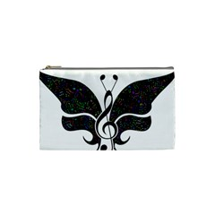 Butterfly Music Animal Audio Bass Cosmetic Bag (small) by HermanTelo