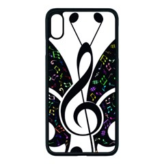 Butterfly Music Animal Audio Bass Iphone Xs Max Seamless Case (black)