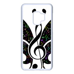 Butterfly Music Animal Audio Bass Samsung Galaxy S9 Seamless Case(white)