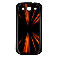 Abstract Light Samsung Galaxy S3 Back Case (black) by HermanTelo