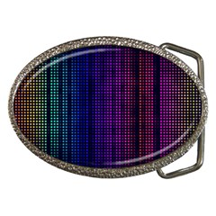 Abstract Background Plaid Belt Buckles