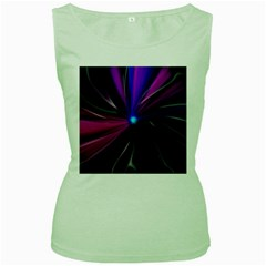 Abstract Background Lightning Women s Green Tank Top by HermanTelo