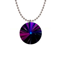 Abstract Background Lightning 1  Button Necklace