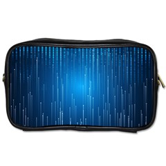 Abstract Line Space Toiletries Bag (one Side) by HermanTelo