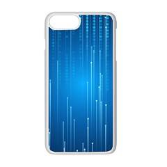 Abstract Line Space Iphone 8 Plus Seamless Case (white)