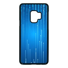 Abstract Line Space Samsung Galaxy S9 Seamless Case(black) by HermanTelo