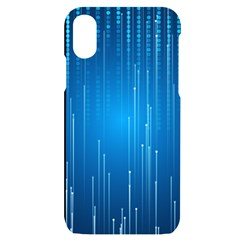 Abstract Line Space Iphone X/xs Black Uv Print Case