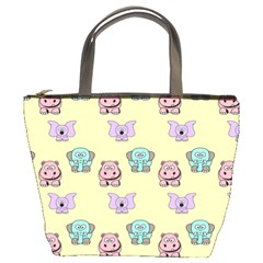 Animals Pastel Children Colorful Bucket Bag by HermanTelo