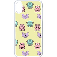 Animals Pastel Children Colorful Iphone X Seamless Case (white)