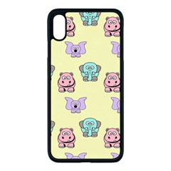 Animals Pastel Children Colorful Iphone Xs Max Seamless Case (black)