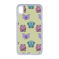Animals Pastel Children Colorful Iphone Xr Seamless Case (white)