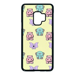 Animals Pastel Children Colorful Samsung Galaxy S9 Seamless Case(black)