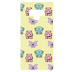 Animals Pastel Children Colorful Samsung Note 9 Black Uv Print Case  by HermanTelo