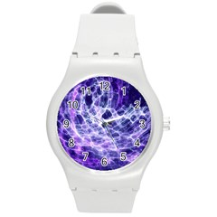 Abstract Background Space Round Plastic Sport Watch (m)